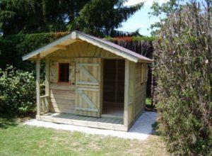 abri en bois pour enfant bastien 2 50 m x 2 00 m. Black Bedroom Furniture Sets. Home Design Ideas