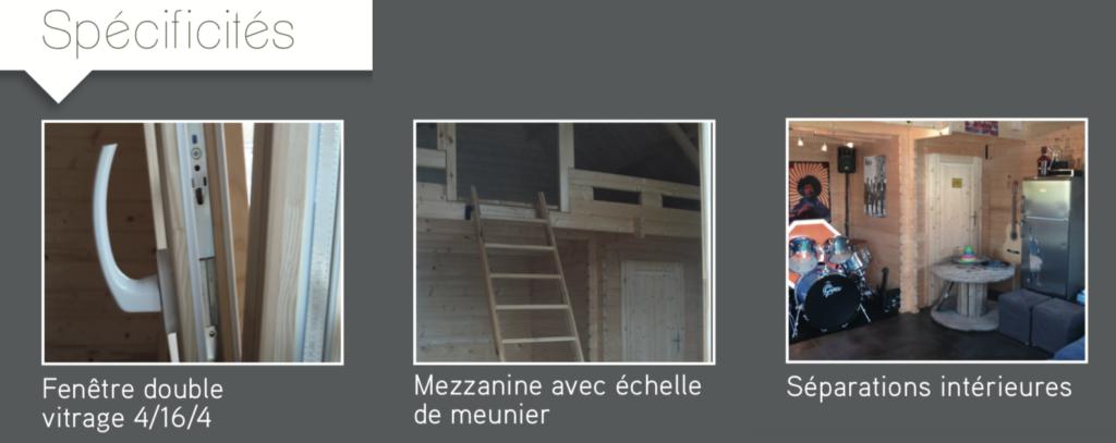 STUDIO DE JARDIN 19,95 M2 + Mezzanine