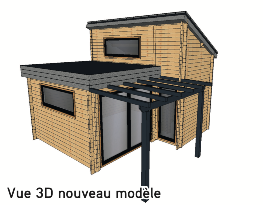 Chalet Mezzanine 19,95 m2 Vue 3D nouveau modèle