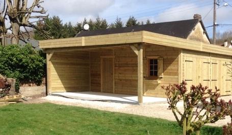 Double-garage-toit-plat-et-carport-annexé-ossature-1