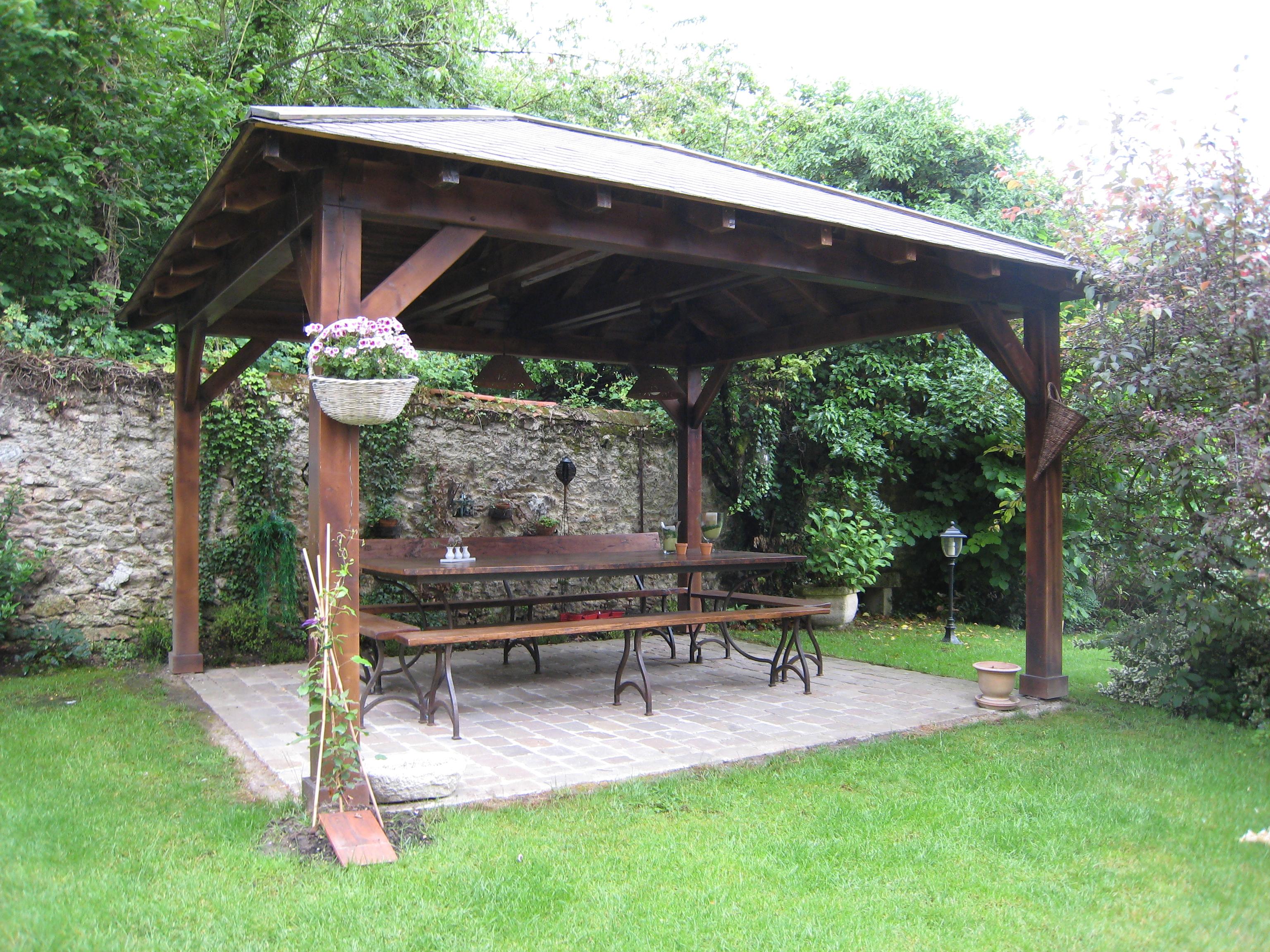 Abris De Jardin Ouvert En Bois ~ Meilleures idées pour la conception ...
