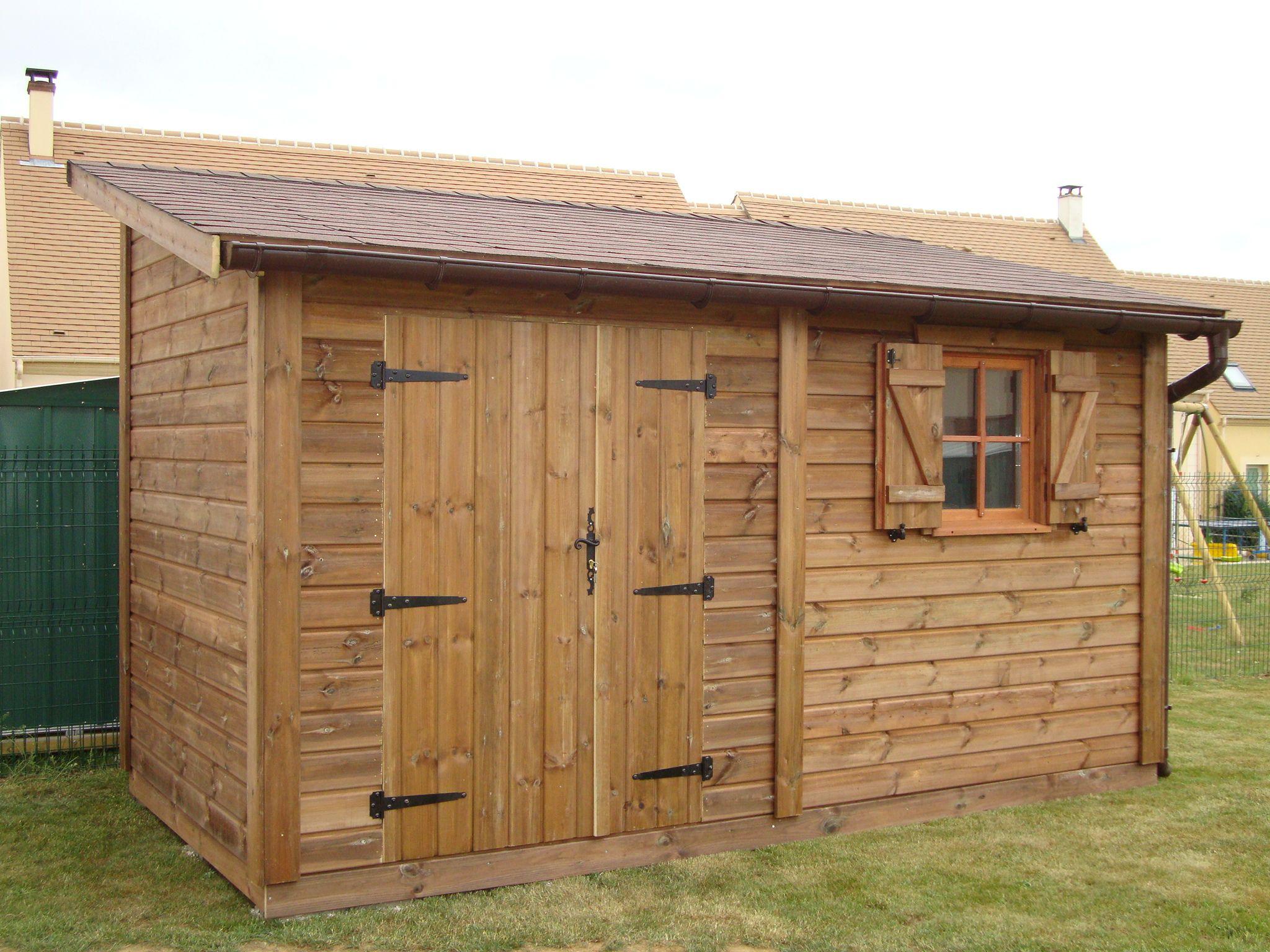 Construire Abris Bois terrasse en bois: construction abri de jardin