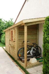 Abri de jardin BRUYERES 1.50 M X 3 M en ossature bois