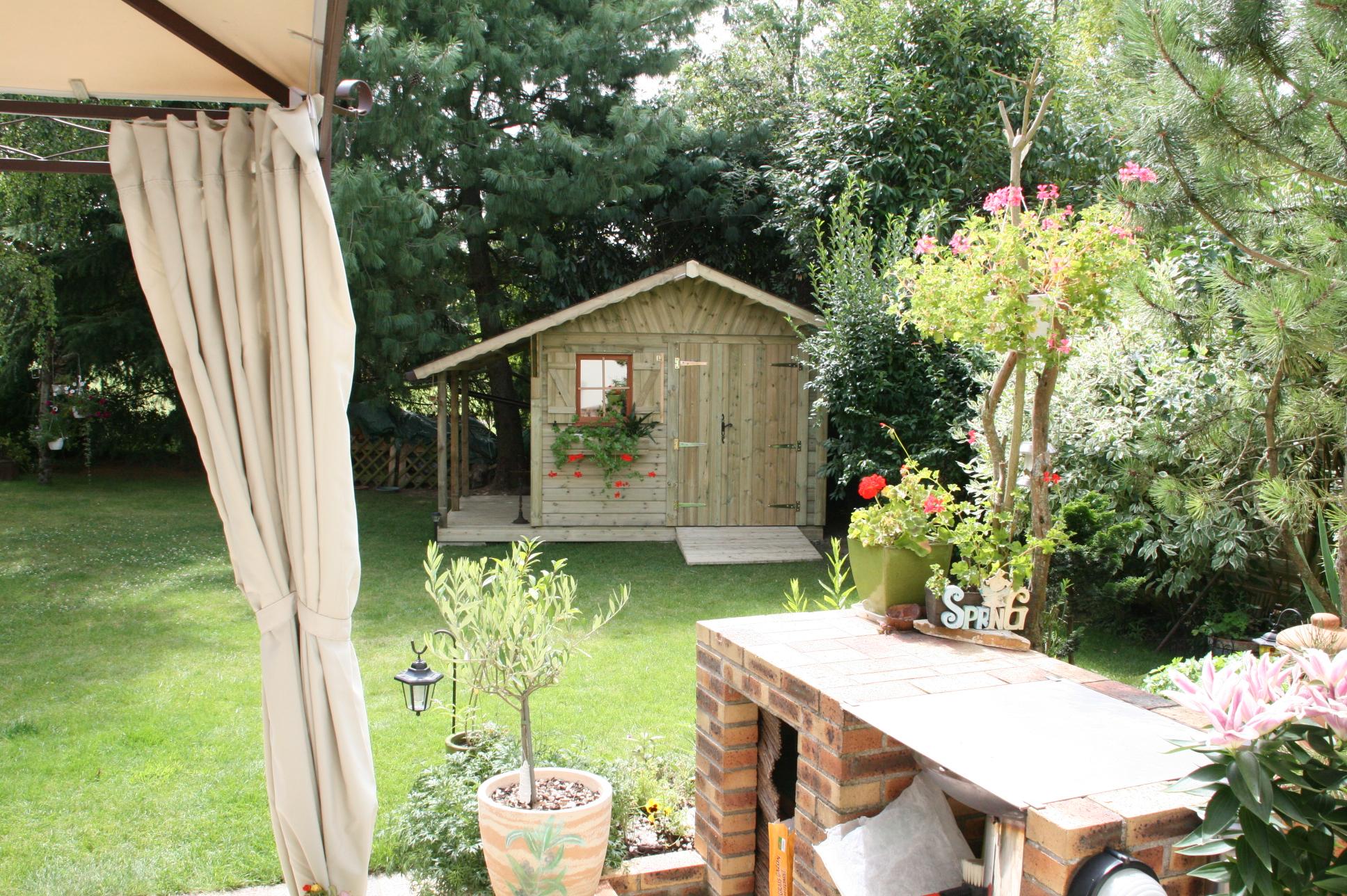 Garten moy car port terrasse bardage facade et abri de - Abri de jardin pergola ...