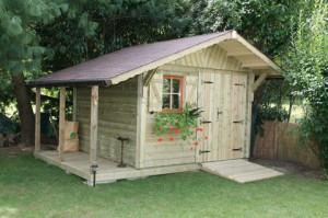 Abri de jardin en construction ossature bois Chailly Cerisier