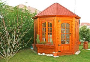 gloriette bois lady cerisier abris de jardin en bois. Black Bedroom Furniture Sets. Home Design Ideas