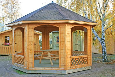 kiosque bois alexis cerisier abris de jardin en. Black Bedroom Furniture Sets. Home Design Ideas