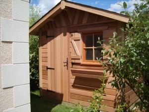 abri de jardin blandy bardage red cedar cerisier abris de jardin en bois. Black Bedroom Furniture Sets. Home Design Ideas