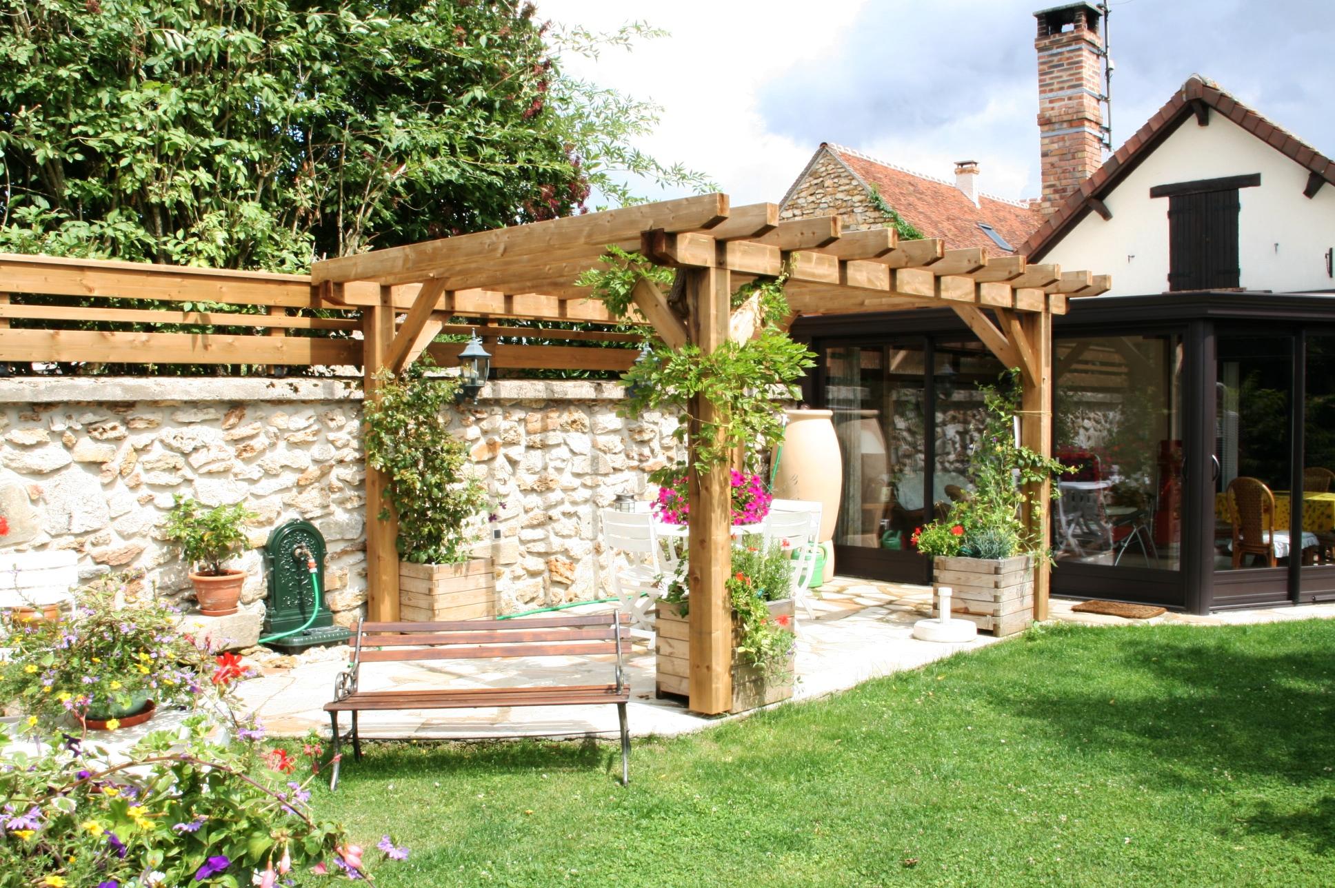 Aménagement Jardin Pas Cher aménagement jardin avec pergola