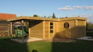 Abri de jardin forme originale en l moderne toit - Abri de jardin moins de 20 m2 ...