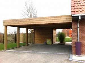Carport adoss en bois pour abriter votre voiture cerisier for Reglementation abris de jardin