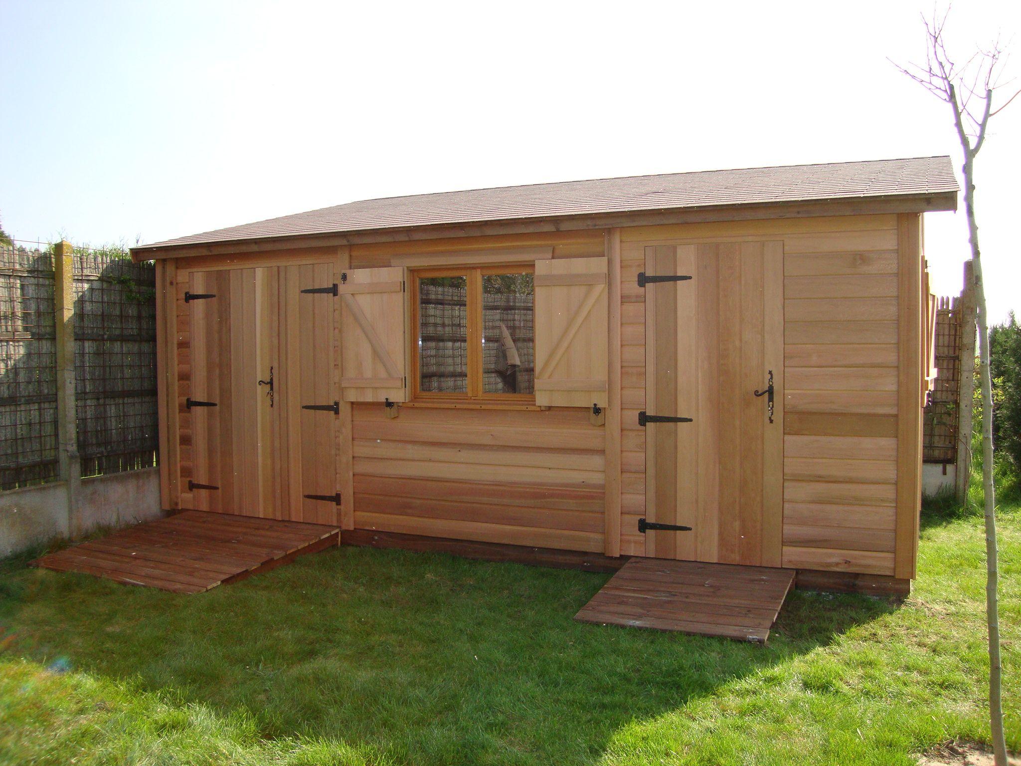 Kiosque En Bois Hexagonal abri de jardin bois roquebrune 3,00 m x 5,50 m