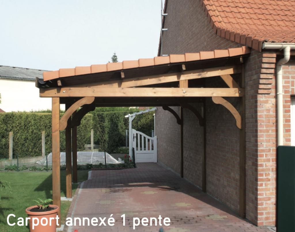 Carport annexé 1 pente