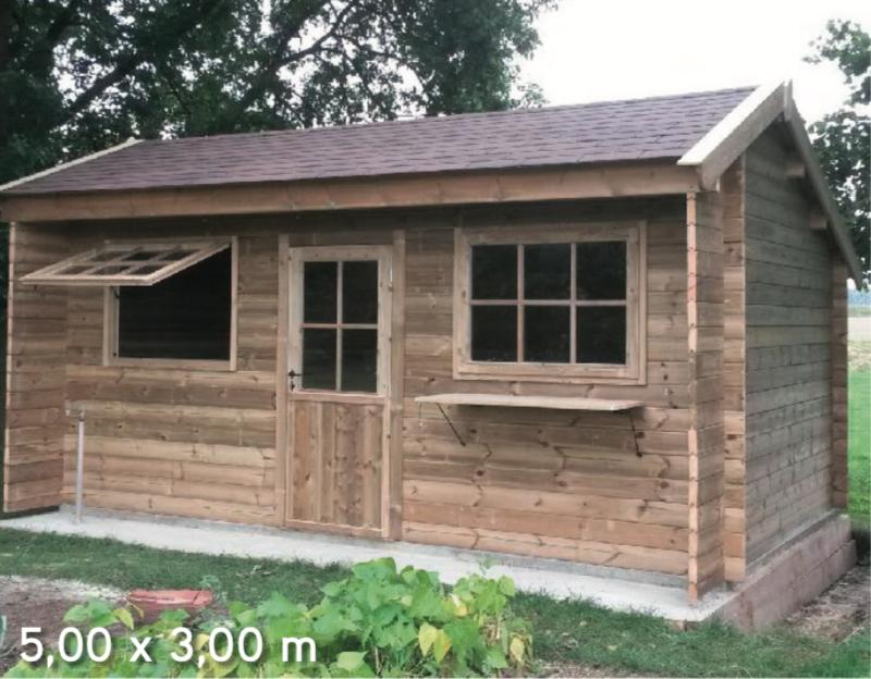 Courchevel 5,00 x 3,00 m abri de jardin en bois