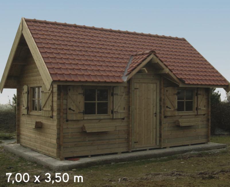 Courchevel 7,00 x 3,50 m abri de jardin en bois