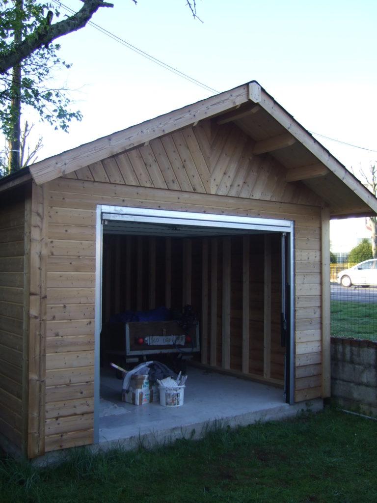 Garage BRETAGNE 3,50×5,50m Mélèze 2