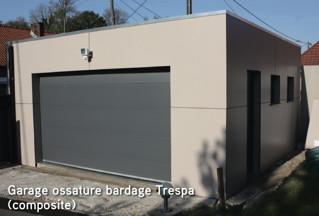 Garage Garage ossature bardage Trespa (composite)
