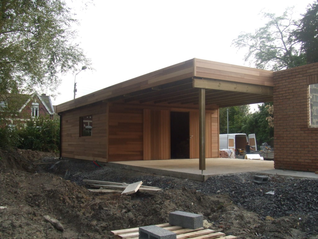 Garage carport Red cedar autre vue