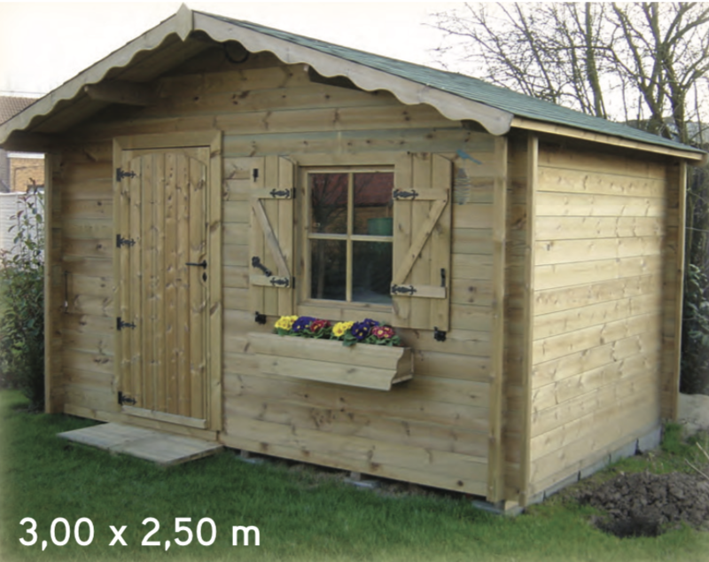 Isola 3,00 x 2,50 m abri de jardin en bois