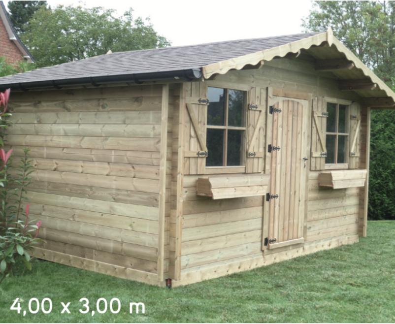 Isola 4,00 x 3,00 m abri de jardin en bois