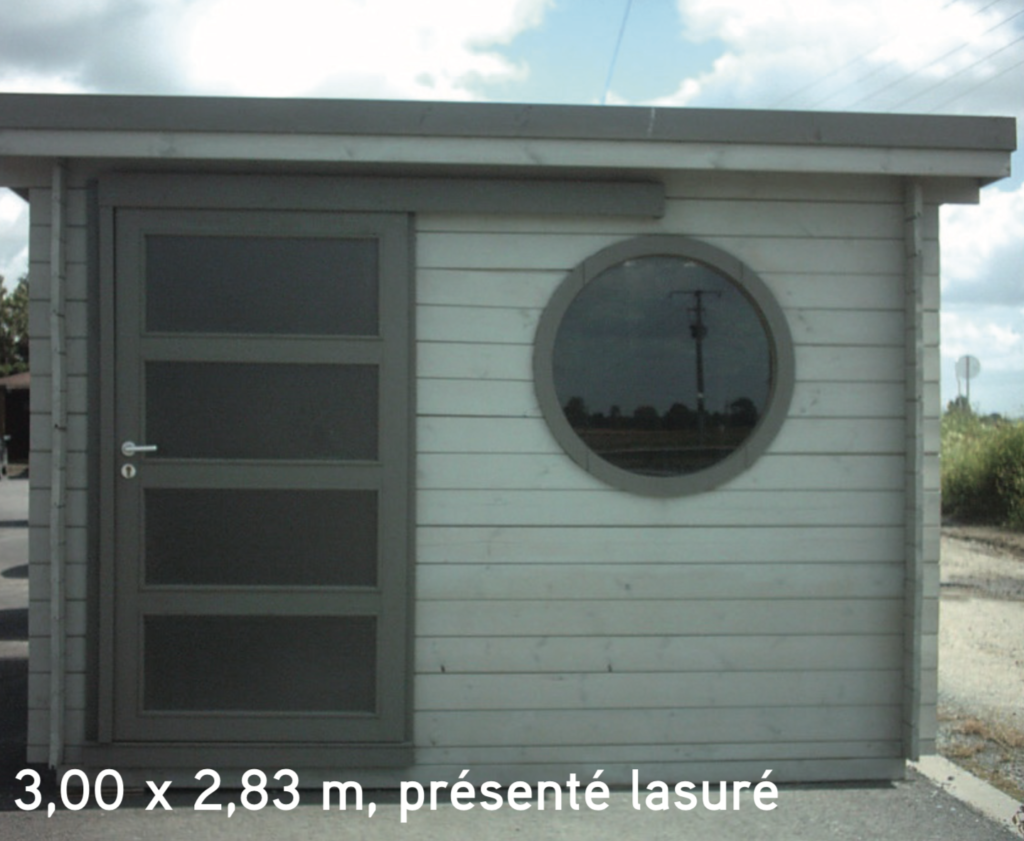 asia 3,00 x 2,83 m, présenté lasuré
