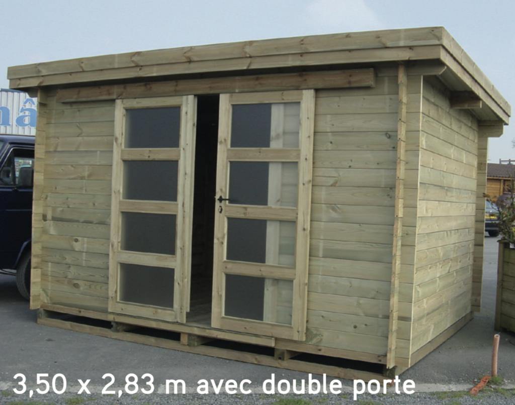 asia 3,50 x 2,83 m avec double porte
