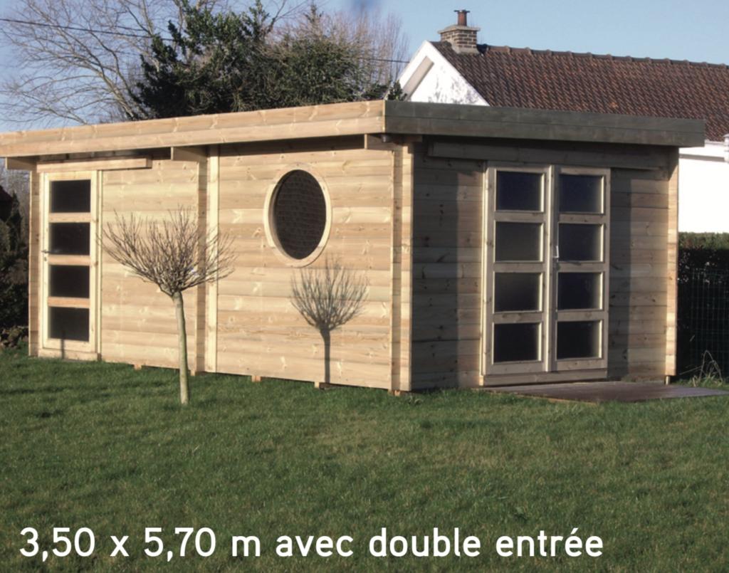 asia 3,50 x 5,70 m avec double entrée