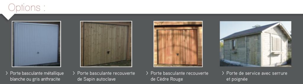 les différentes portes de garage