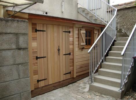 Abri de jardin BRUYERES 1,30M X 3,40 M Bardage Red Cedar 1
