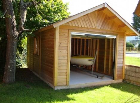 Achat Garage bois BRETAGNE 3,50 M X 5,50 M en ligne | Cerisier
