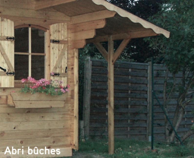 Avoriaz Abri bûches abri de jardin en bois