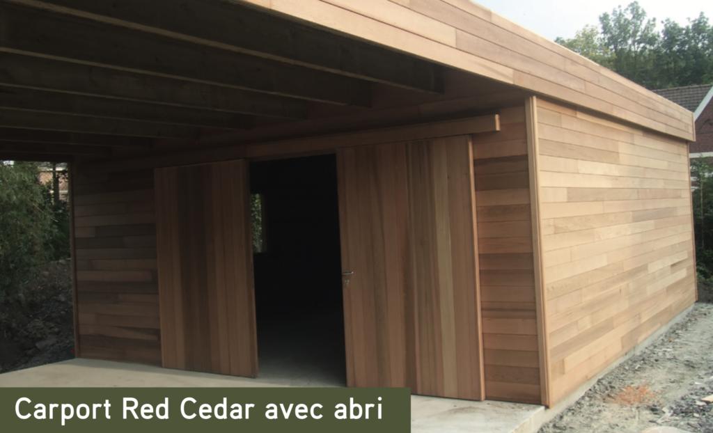 Carport bois Carport Red Cedar avec abri