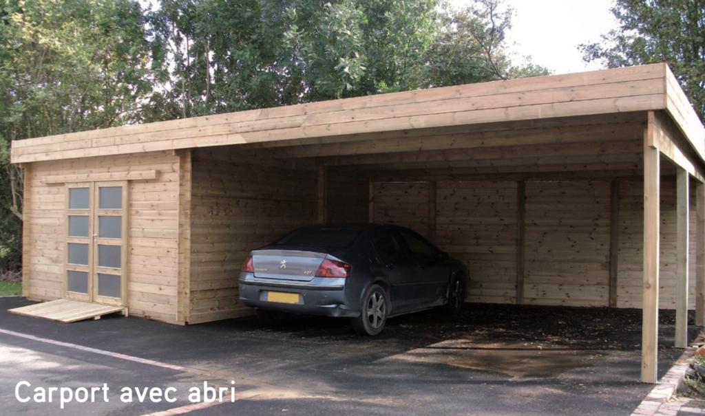 Carport bois Carport avec abri