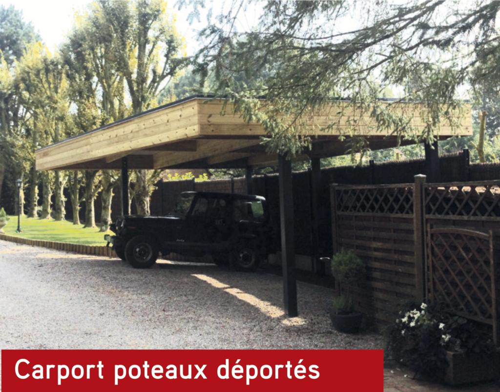 Carport bois Carport poteaux déportés
