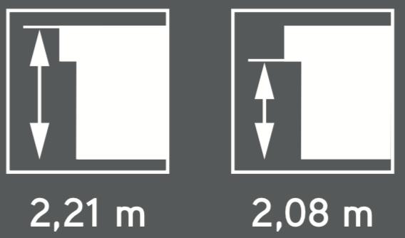 contemporain 2,21 m 2,08 m