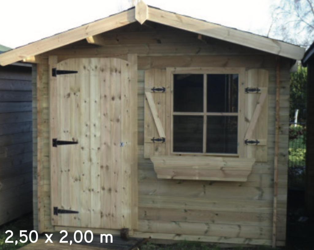 megève 2,50 x 2,00 m abri de jardin en bois