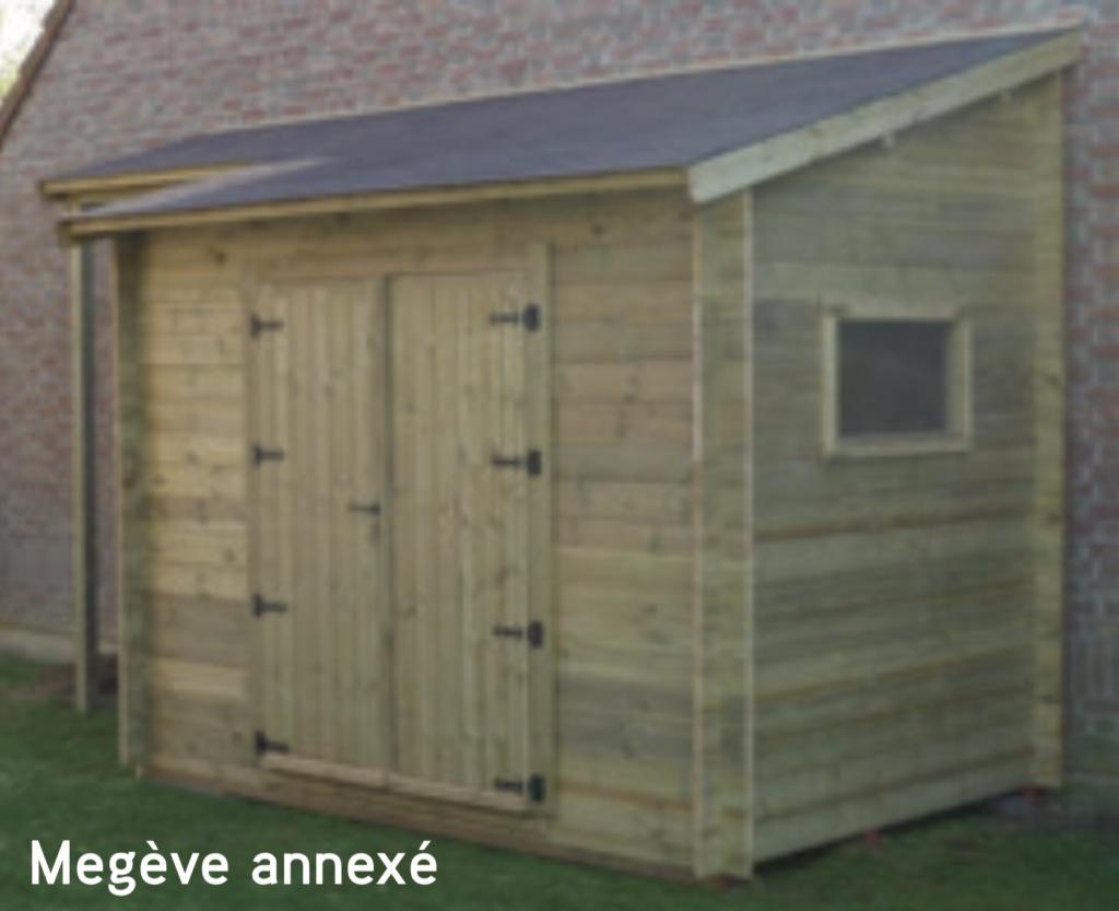 megève Megève annexé abri de jardin en bois